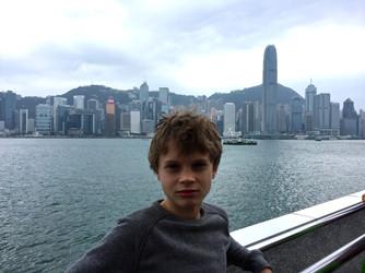 hong Kong Island view from Tsim Tsa Tsui