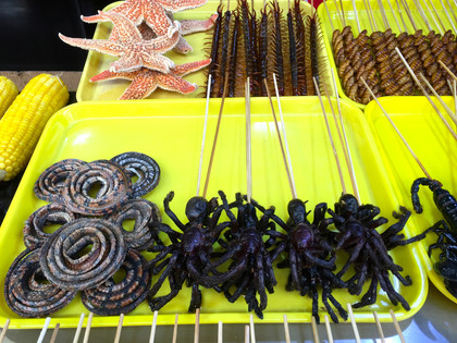 Black fried spiders...yummie!
