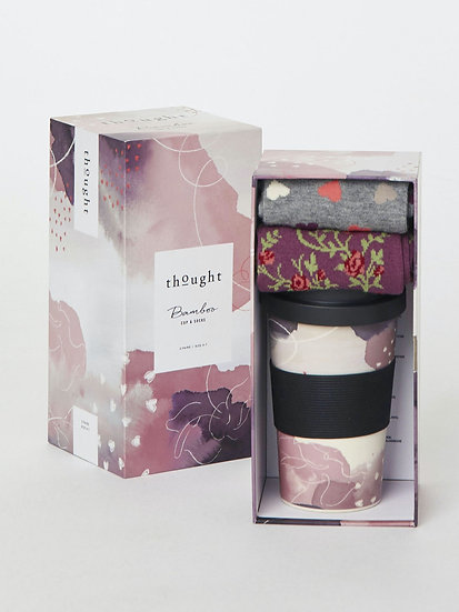 Though: Hearts Bamboo Cup & Socks Gift Set (Ladies)