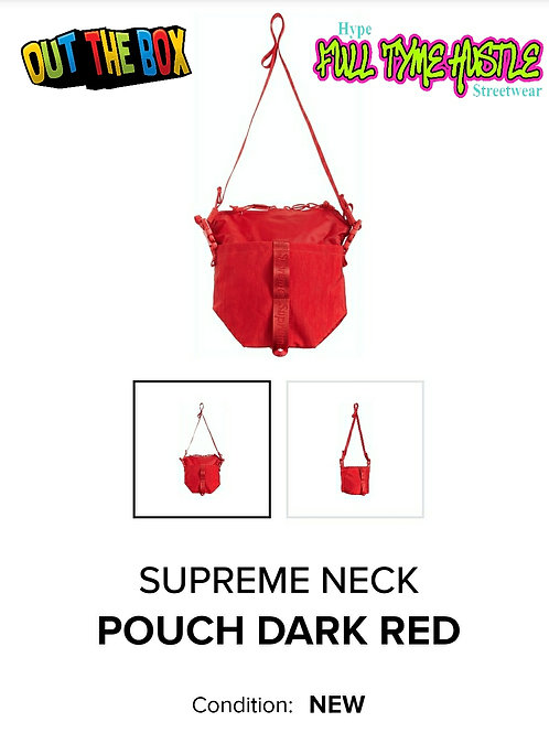 Supreme Neck Pouch Dark Red DS