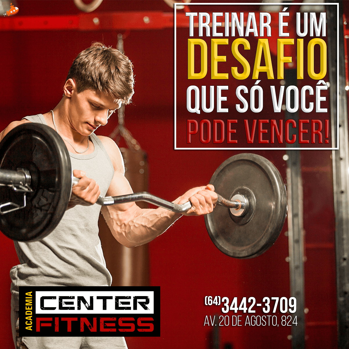 Treinar é um desafio - Center Fit