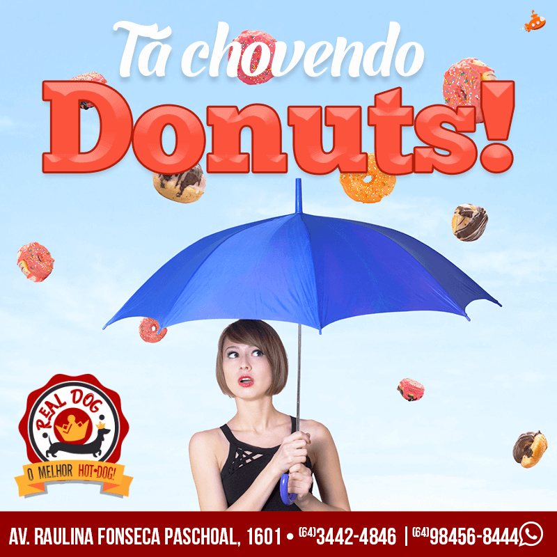 Tá Chovendo Donuts! Real Dog