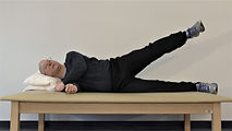 Lying down hip abduciton exercise