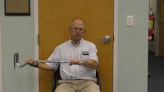 Cane shoulder external rotation stretching execise