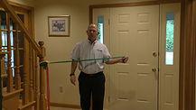 theraband shoulder external rotation exercise