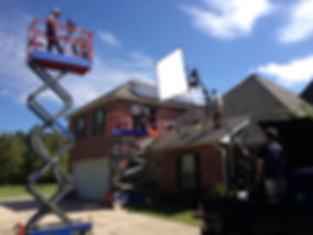 Rugged Production shooting a Television Commercial about Solar Power and Solar paneling.