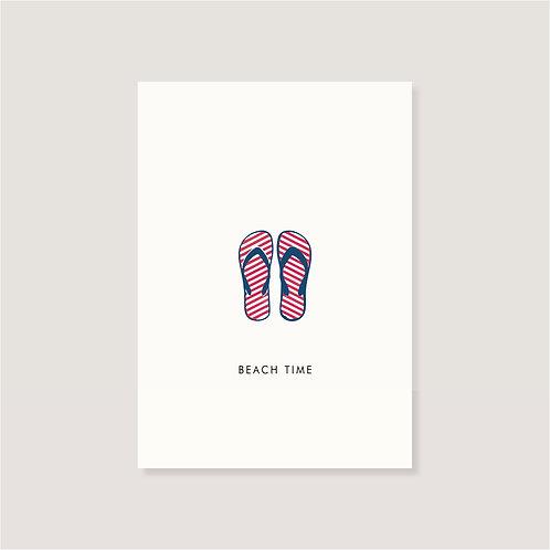 "Karte - ""Flip Flops - Beach Time"""