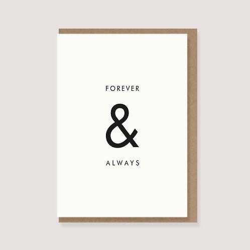 """Klappkarte - """"forever & always"""""""