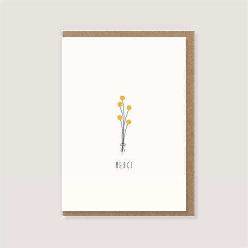 """Karte - """"Blumenstrauß - Merci"""""""