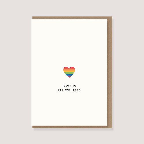 """Karte """"Regenbogenherz - Love is all we need"""""""