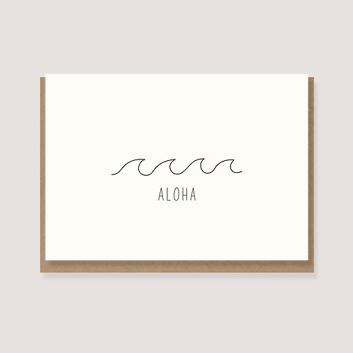 """Karte - """"Welle - Aloha"""""""