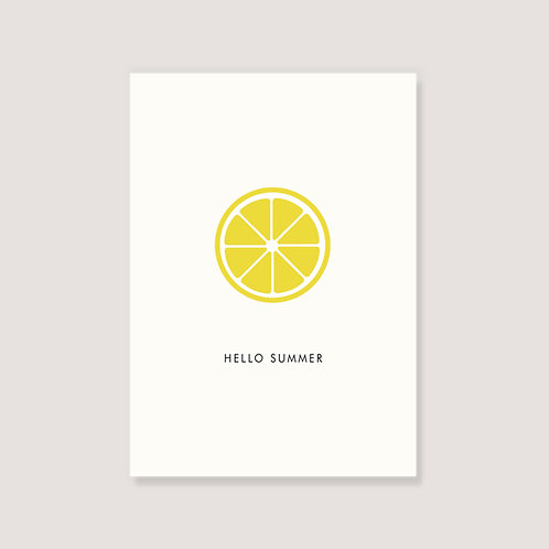"Karte - ""Zitrone"""