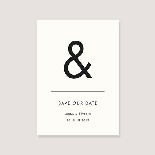 "Save the date Karte - ""&"" - individualisierbar"