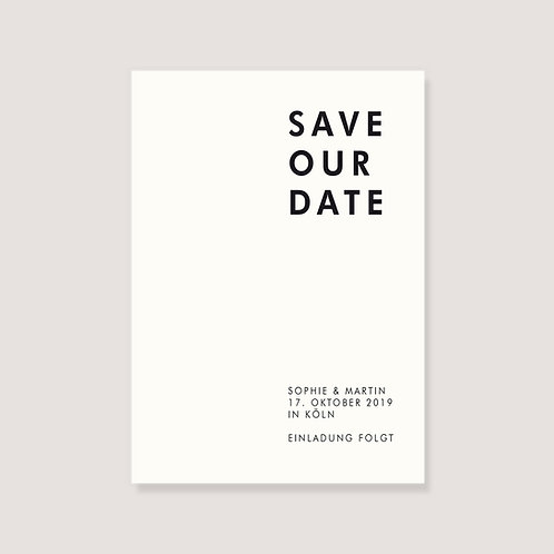 """Karte - """"Save Our Date"""" - individuell gestaltet"""