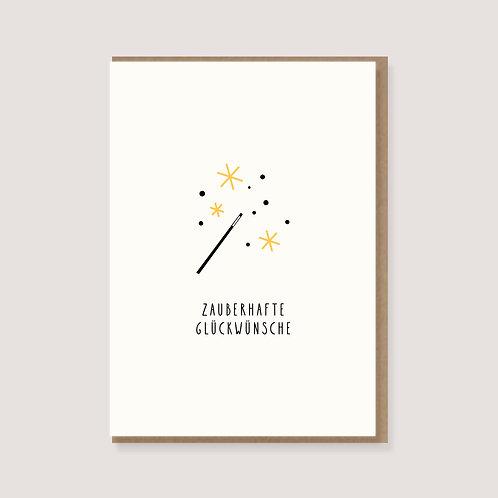 """Karte - """"Zauberstab - Zauberhafte Glückwünsche"""""""