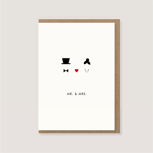 "Klappkarte - ""Mr.&Mrs."""
