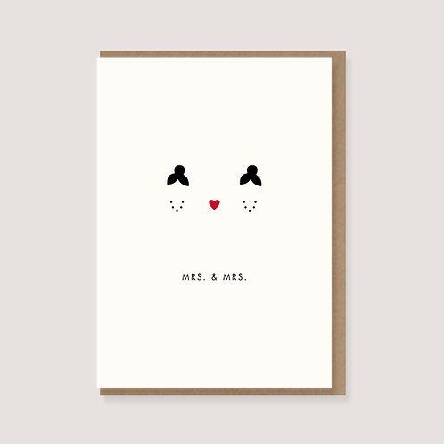 "Klappkarte - ""Mrs .& Mrs."""