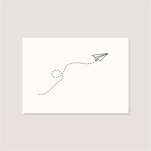 "Karte - ""Papierflieger"""