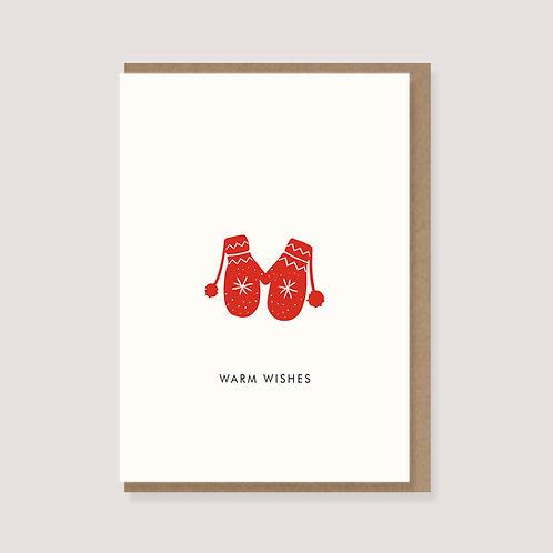 "Karte - ""Handschuhe -Warm Wishes"""