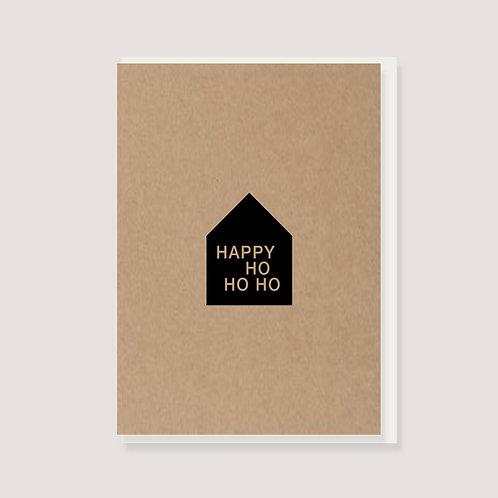 """Klappkarte - """"Haus - Happy Ho Ho Ho"""""""