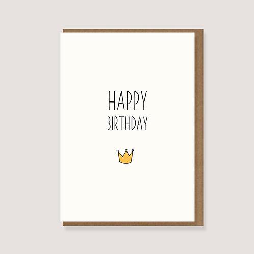 """Klappkarte - """"Krone - Happy Birthday"""""""