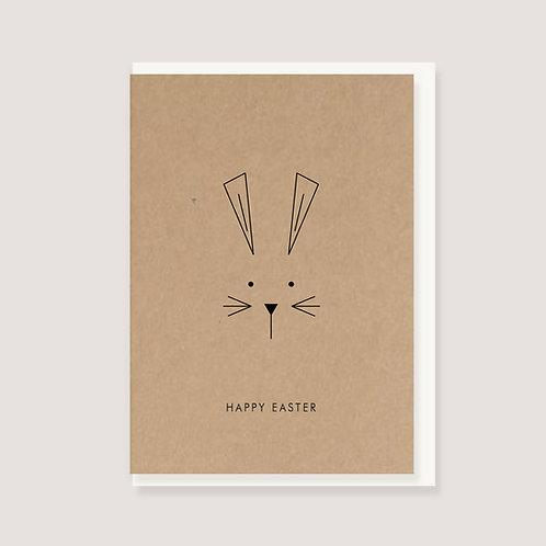"""Klappkarte  - """"Hase minimal - Happy Easter"""""""