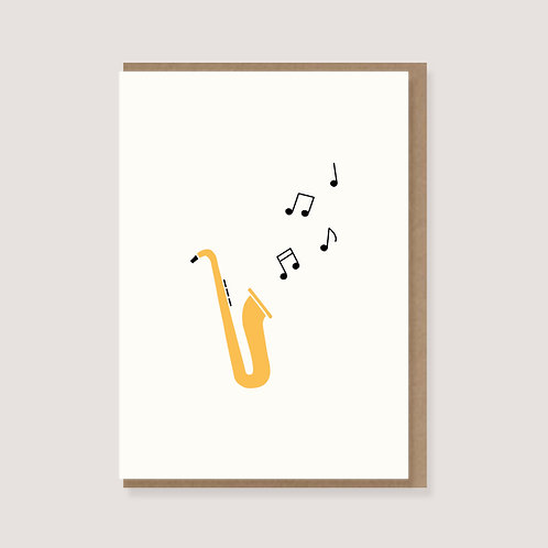 "Karte - ""Saxophon"""