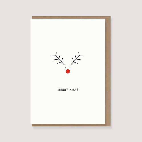 """Karte - """"Elch - Merry Xmas"""""""