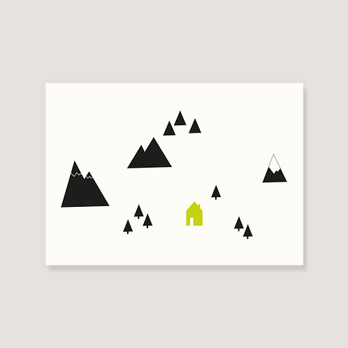 "Karte - ""Hütte in den Bergen"""