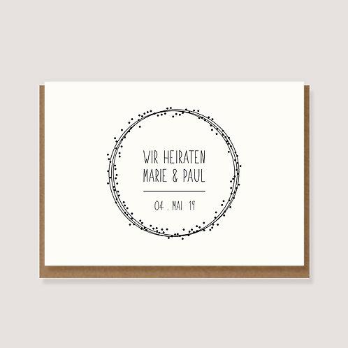"""Einladungskarte - """"wir heiraten"""" - individuell gestaltet"""