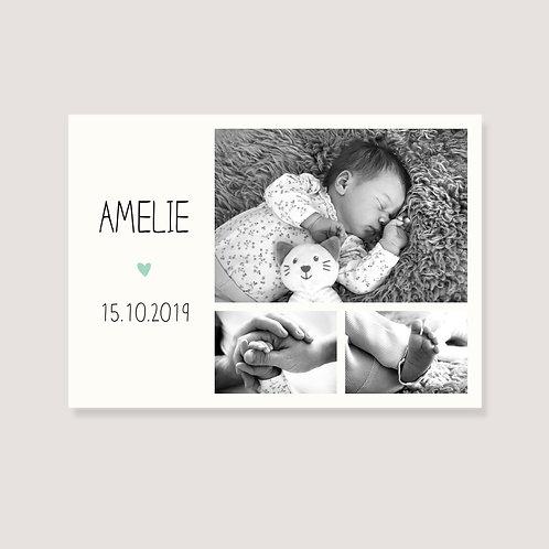 Geburtskarte - individuell gestaltet