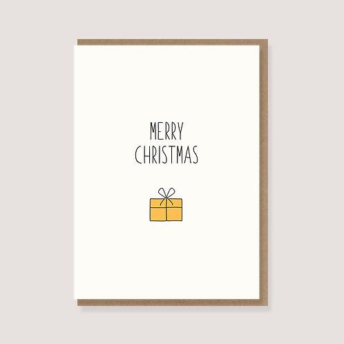 """Karte - """"Geschenk - Merry Christmas"""""""