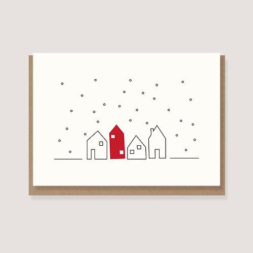 """Karte - """"Häuser im Schnee"""""""