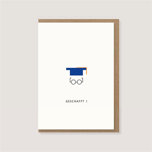 """Karte - """"Doktorhut - Geschafft!"""""""