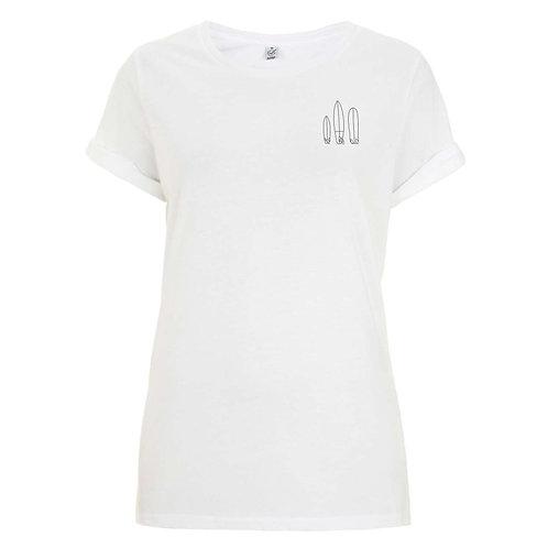 """Organic Damen-Shirt """"Surfboards"""""""