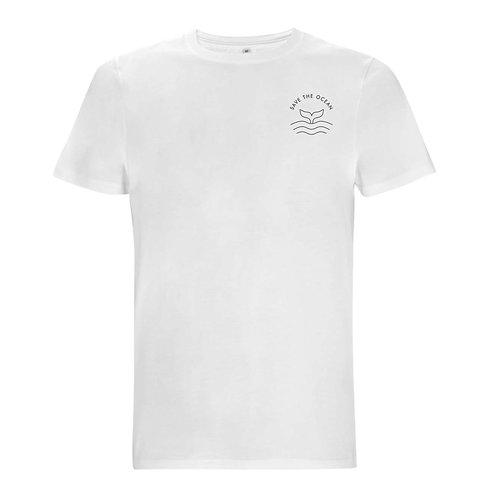 "Organic Herren-Shirt ""Wal - Save the Ocean"""