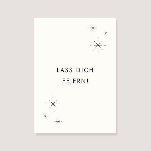 "Karte - ""Feuerwerk - Lass dich feiern"""