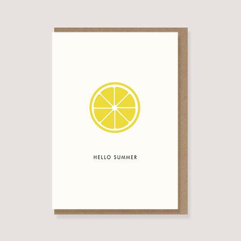 """Karte - """"Zitrone - Hallo Summer"""""""
