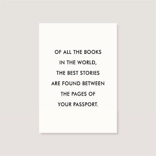 "Karte - ""of all the books"""