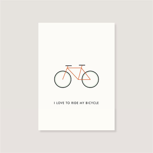 """Karte - """"I love to ride my Bicycle"""""""