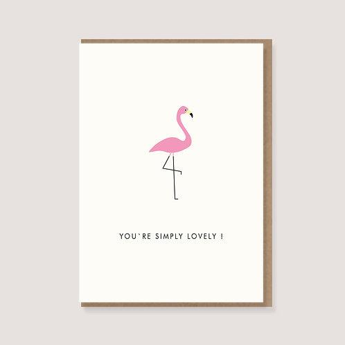 """Klappkarte - """"Flamingo"""""""