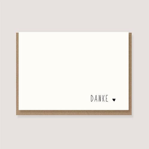 """Karte - """"Herz - Danke"""""""