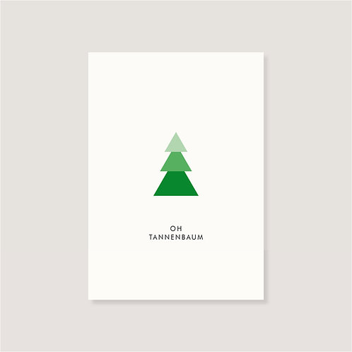 "Karte - ""Oh Tannenbaum"""