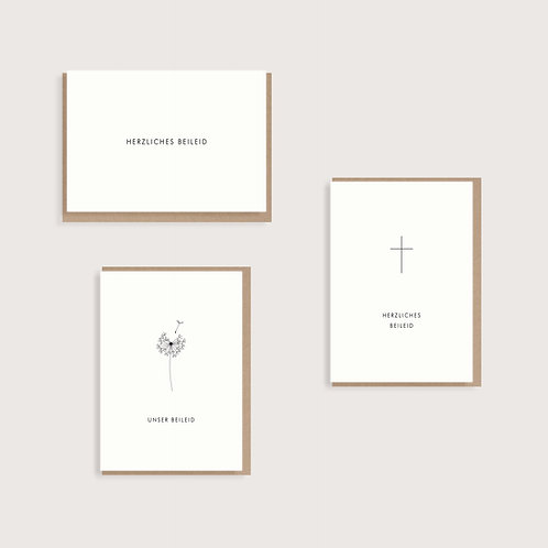 Set aus 3 Trauerkarten II