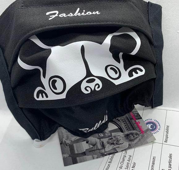 Masque UNS1 en Tissu - Enfant - Tête de bouledogue - Fashion Bulldog