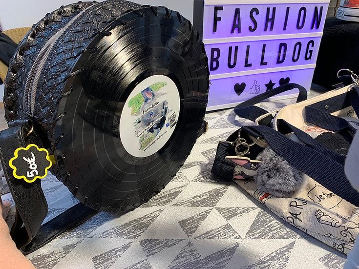 Sac 33 tours simili cuir noir - Fashion Bulldog