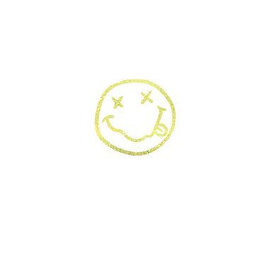 Neon Glitter Smiley Face