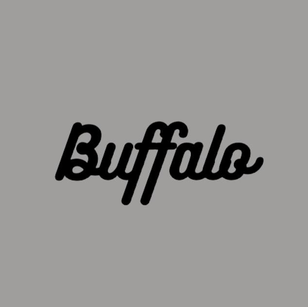 Black Flocked Buffalo
