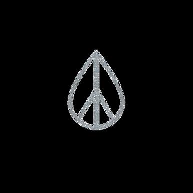 Silver Glitter Peace Sign