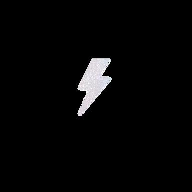 White Glitter Lightening Bolt